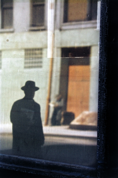 Saul Leiter, Near the Tanager, 1954 Chromogenic print; printed later 14 x 11 inches