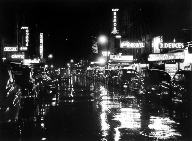 William Gottlieb - 52nd Street, Jazz Center of the World, 1948 - Howard Greenberg Gallery