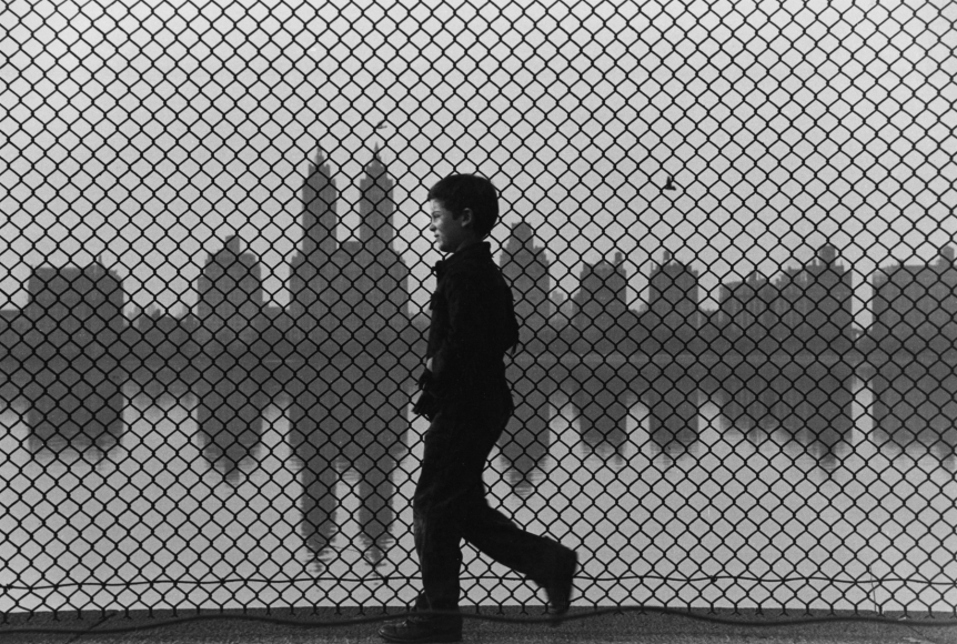 Ruth Orkin - Boy and Fence, Central Park, 1965 - Howard Greenberg Gallery