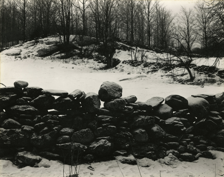 Paul Strand - Wall and Snow, Vermont 1943 - Howard Greenberg Gallery