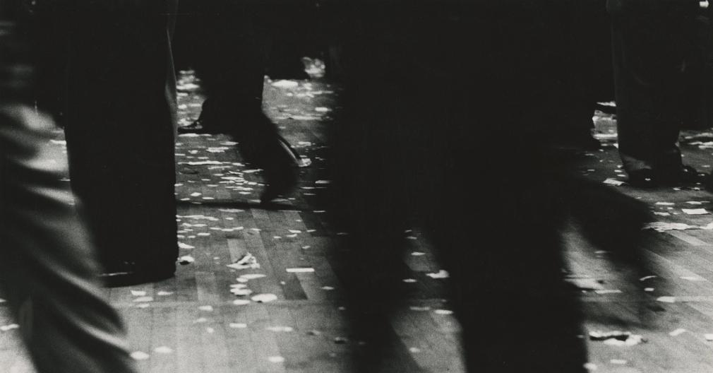 Floor of New York Stock Exchange, 1957 Gelatin silver print; printed c.1957, howard greenberg gallery, 2020