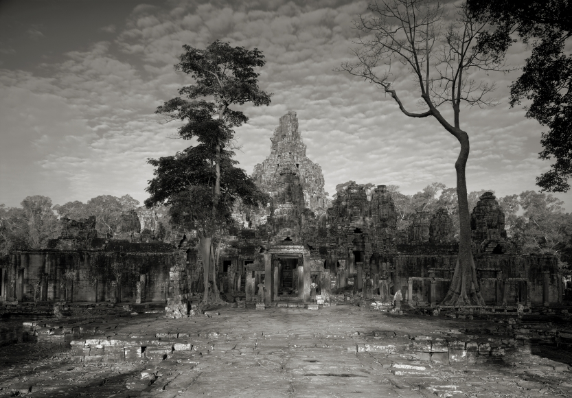 Angkor #79, Cambodia, 1994  Archival pigment print; printed 2011   28 x 40 inches  From an edition of 7  Mounted. Signed, titled, dated and numbered with print date in pencil on print recto.   $10,500.00