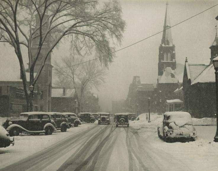 Marion Post-Wolcott - Main Street, Brattleboro, Vermont, 1938 - Howard Greenberg Gallery