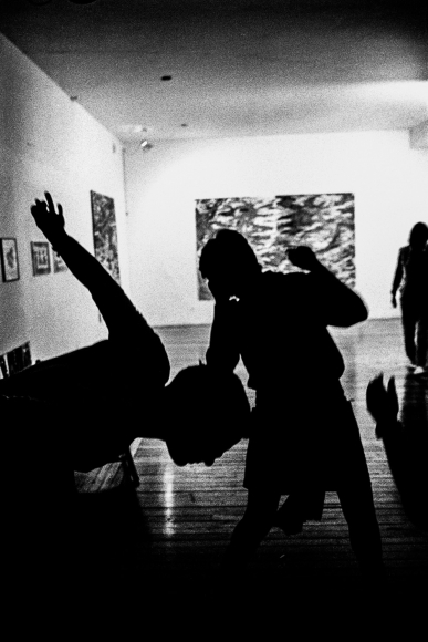 Ken Schles - Gallery Dance Party Silhouette, 1984 - Howard Greenberg Gallery