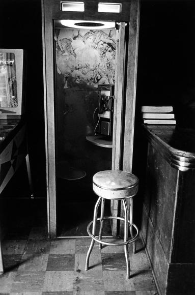 Tom Arndt - Phonebooth in a bar, St. Paul, Minnesota, 1973  - Howard Greenberg Gallery
