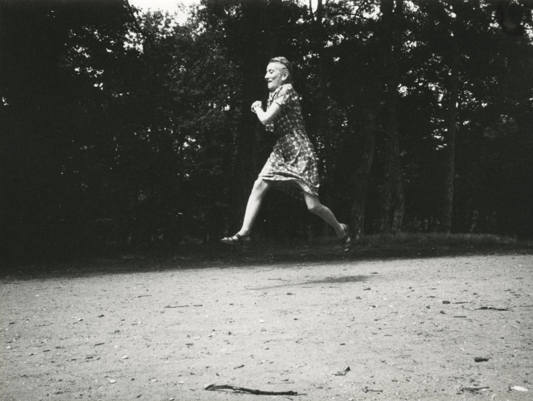 Jacques-Henri Lartigue - Simone on her seventy-fifth birthday, 1968 - Howard Greenberg Gallery