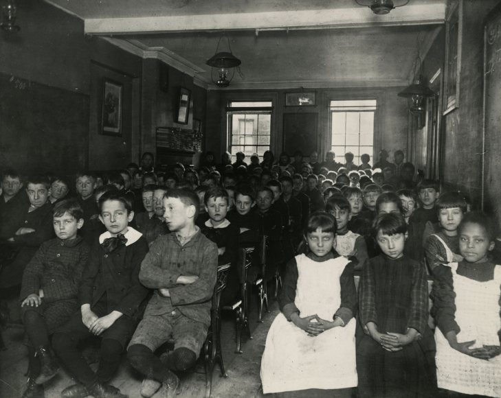 Jacob Riis - Industrial School in West 52nd Street Children's Aid Society, New York, c.1894 - Howard Greenberg Gallery