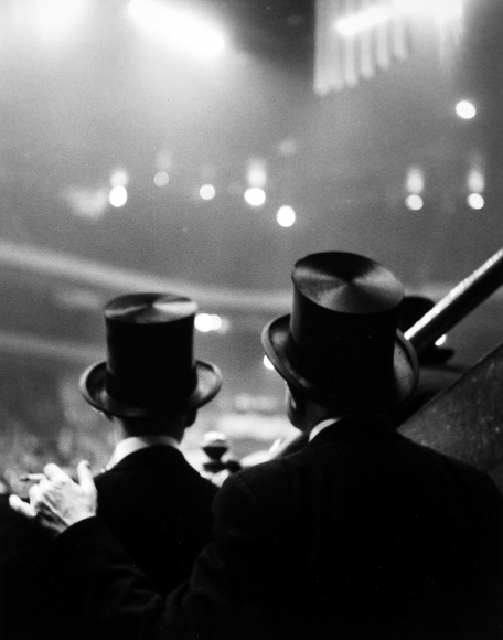 Ted Croner - Top Hats, Horse Show, Old Madison Square Garden, c.1947 - Howard Greenberg Gallery