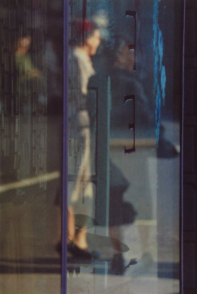 Saul Leiter, Walking, 1956 Chromogenic print; printed later 14 x 11 inches