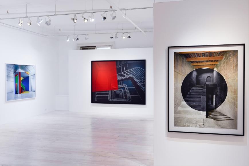 Georges Rousse, Éloge des Lieux installation, Sous Les Etoiles Gallery 2015