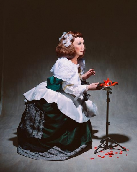 Yasumasa Morimura Living in the realm of the painting (The kneeling maid of honor), 2013