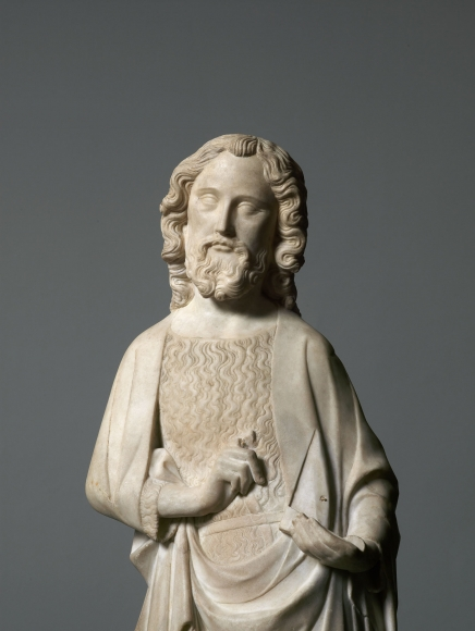 Robert de Lannoy(fl. from 1292, d. Paris? 1356, attributed), John the Baptist (detail)