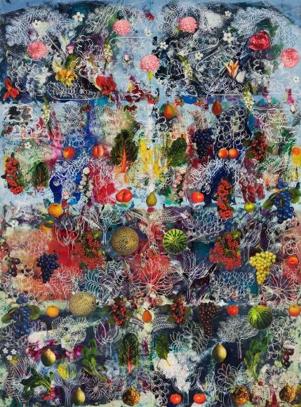Philip Taaffe Altarpiece, 2018