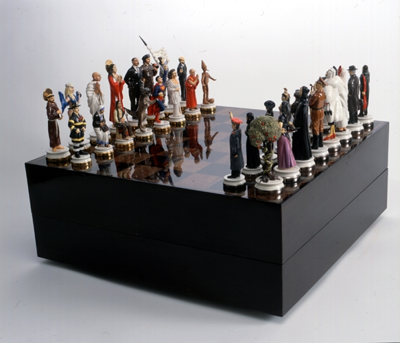 Maurizio Cattelan Untitled (Good vs. Evil Chess Set), 2003