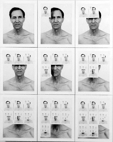William Anastasi Nine Polariod Photographs of the Artist, 1955