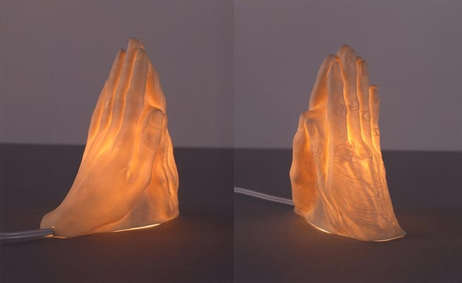 Janine Antoni If I Die Before I Wake (mother's hand meets daughter's hand in prayer), 2004