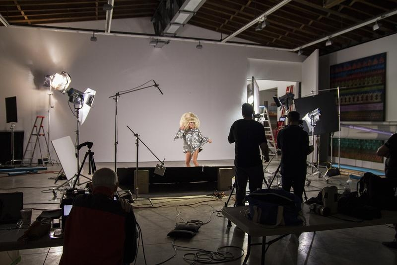 Production photo of Here she is … v1