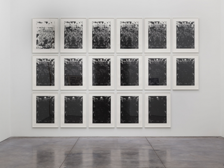 Prints and Editions  Installation view  January 25 – February 23, 2019  Luhring Augustine, New York  Pictured: Glenn Ligon