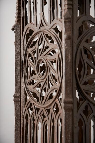 A monumental wrought-iron pedestal, 15th century