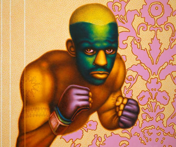 Ed Paschke Boxer with Masque, 2004