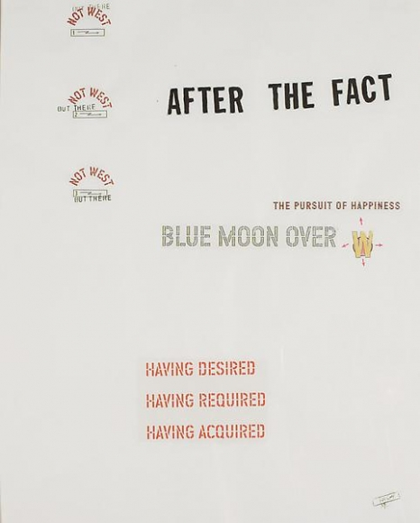 Lawrence Weiner Blue Moon Over #19, 2001