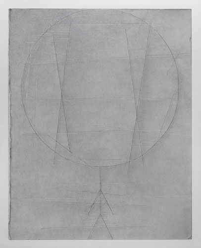 David Musgrave Plane with scored figure, 2009