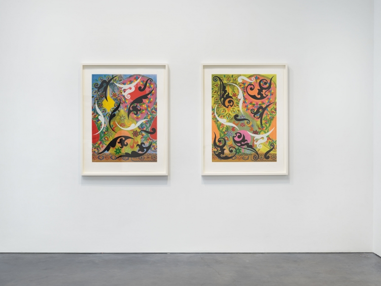 Prints and Editions  Installation view  January 25 – February 23, 2019  Luhring Augustine, New York  Pictured: Philip Taaffe