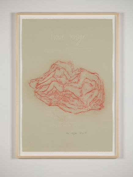 Tunga, True Rouge, 1998,  Lithograph,  Edition of 24,  Poem by Simon Lane