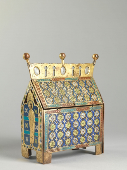 An enameled casket showing the Crucifixion, Limoges,France
