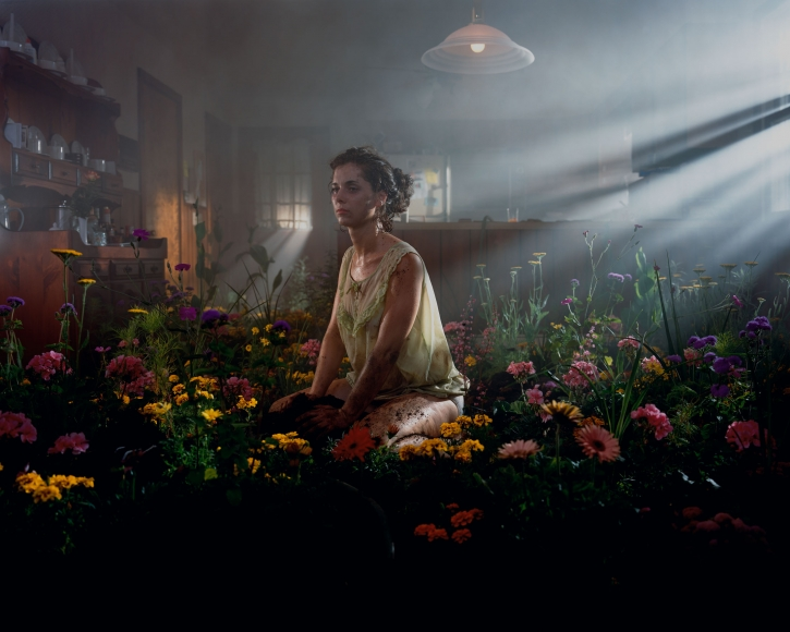 Gregory Crewdson Untitled (woman in flowers), 1998