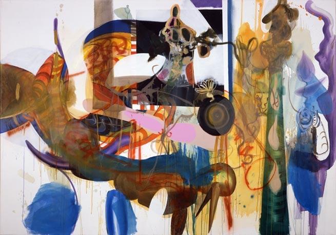Albert Oehlen, Mullflasche, 2004