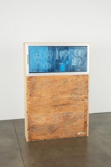 Oscar Tuazon, Blueprint Window (LAWS), 2018