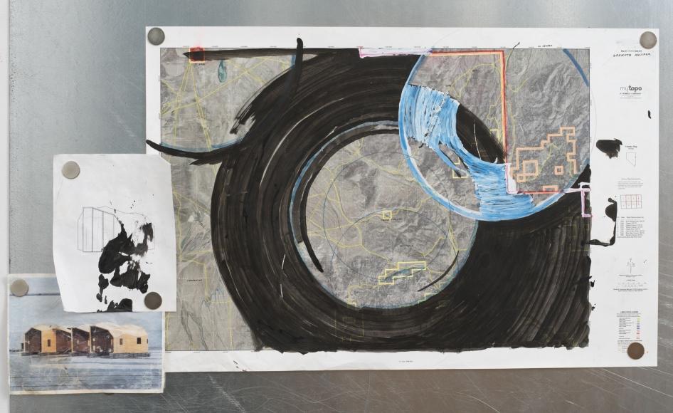 Oscar Tuazon, Water Map (Goshute Aquifer, Spring Valley, NV), 2018