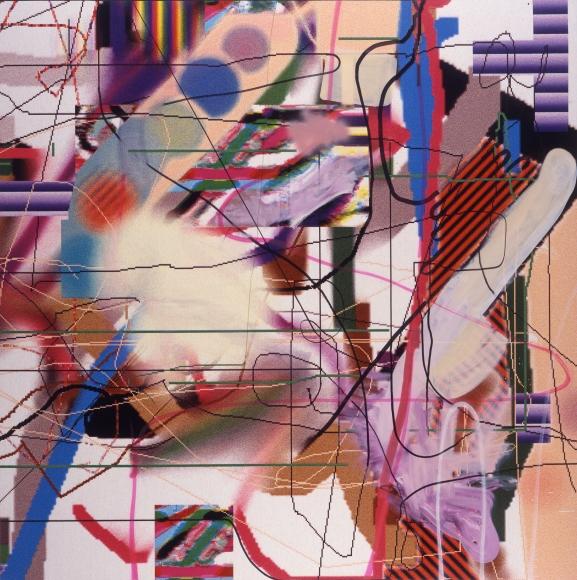 Albert Oehlen A Foggy Day, 1996