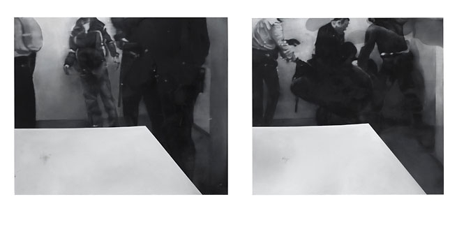 Johannes Kahrs Untitled (four men with table), 2008