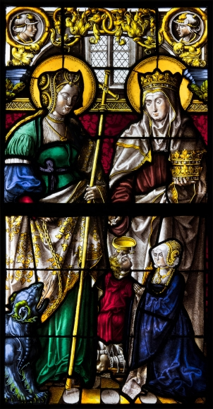 Saints Margaret and Elizabeth presenting a female donor, c. 1525–30