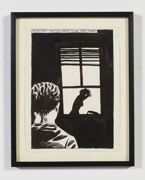 Raymond Pettibon, No Title (Sometimes I Wait…), 1985