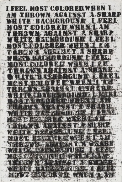 Glenn Ligon Untitled (study for large untitled (I Feel Most Colored When I Am Thrown Against A Sharp White Background), 1990