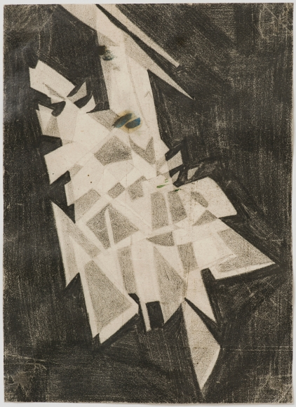 Lygia ClarkSem titulo (Untitled),1952Graphite, paperPaper: 12 3/8 x 8 3/4 inches (31.5 x 22.1 cm)Framed: 20 1/4 x 17 1/4 x 1 1/2 inches (51.3 x 43.8 x 3.7 cm),