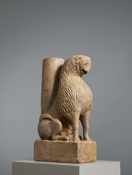 A seated lion, Apulia,Southern Italy