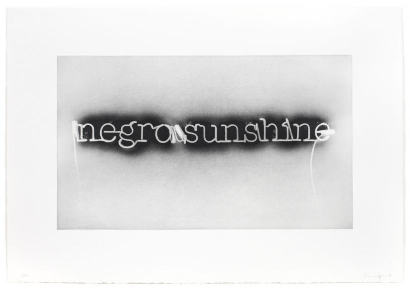 Glenn Ligon Warm Broad Glow (reversed), 2008