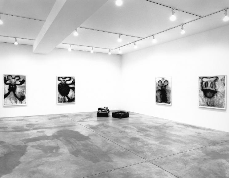 Paul McCarthy, Arnulf Rainer, Joyce Pensato, Installation view