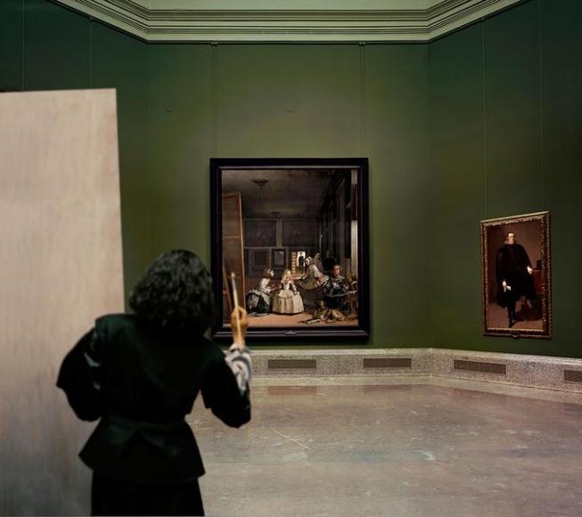 Yasumasa Morimura Las Meninas renacen de noche III: Opening the door in the depth of the painting, 2013
