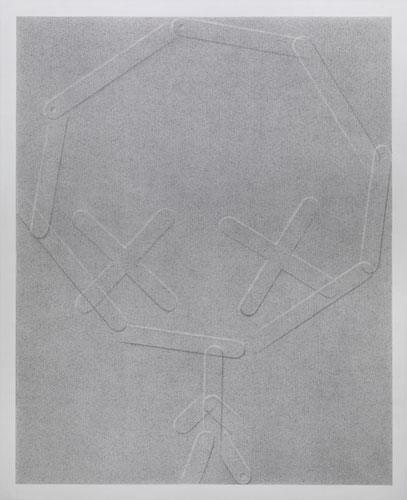David Musgrave Grey plane with embossed figure, 2008