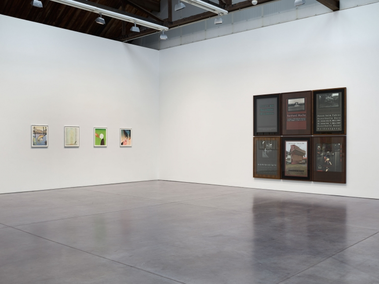 Prints and Editions  Installation view  January 25 – February 23, 2019  Luhring Augustine, New York  Pictured from left: Sanya Kantarovsky, Reinhard Mucha