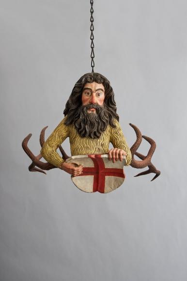 A wild man chandelier (Lustermännchen), c. 1525–50