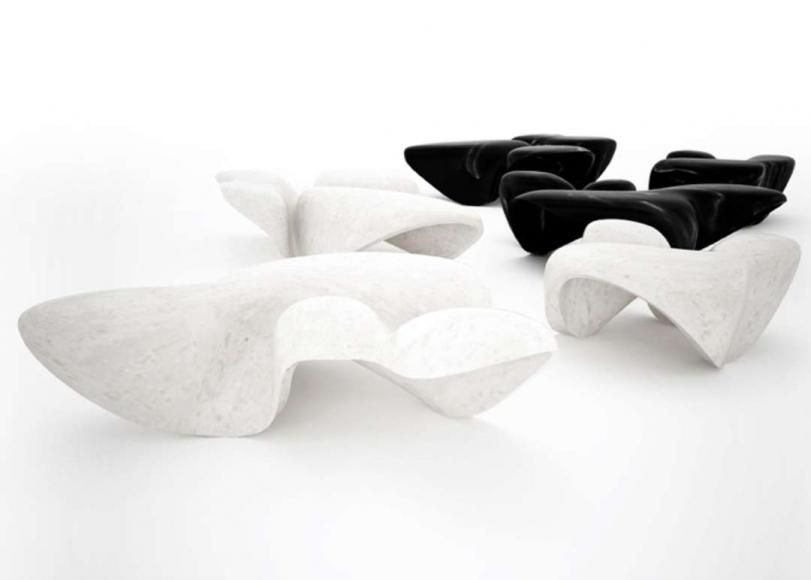 Zaha hadid artists leila heller gallery for Mesa table design by zaha hadid for vitra
