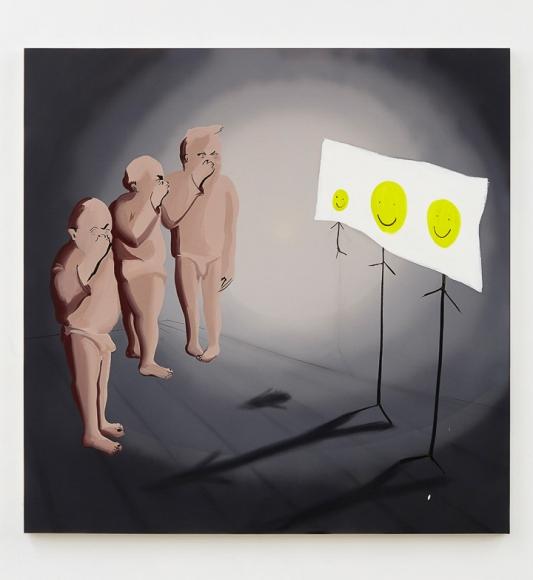 Tala Madani, Smiley has no nose, 2015