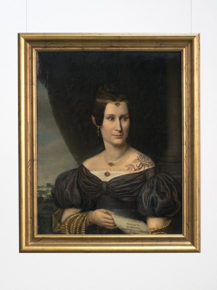 Hans-Peter Feldmann, Portrait of a woman with tattoo