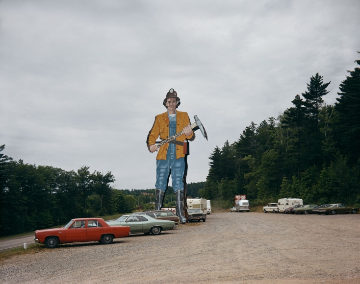 "Stephen Shore, Norway, Michigan, ""Big John"", Iron Mountain Iron Mine, July 9, 1973"